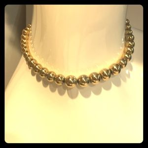 Vintage Monet graduated gold bead choker